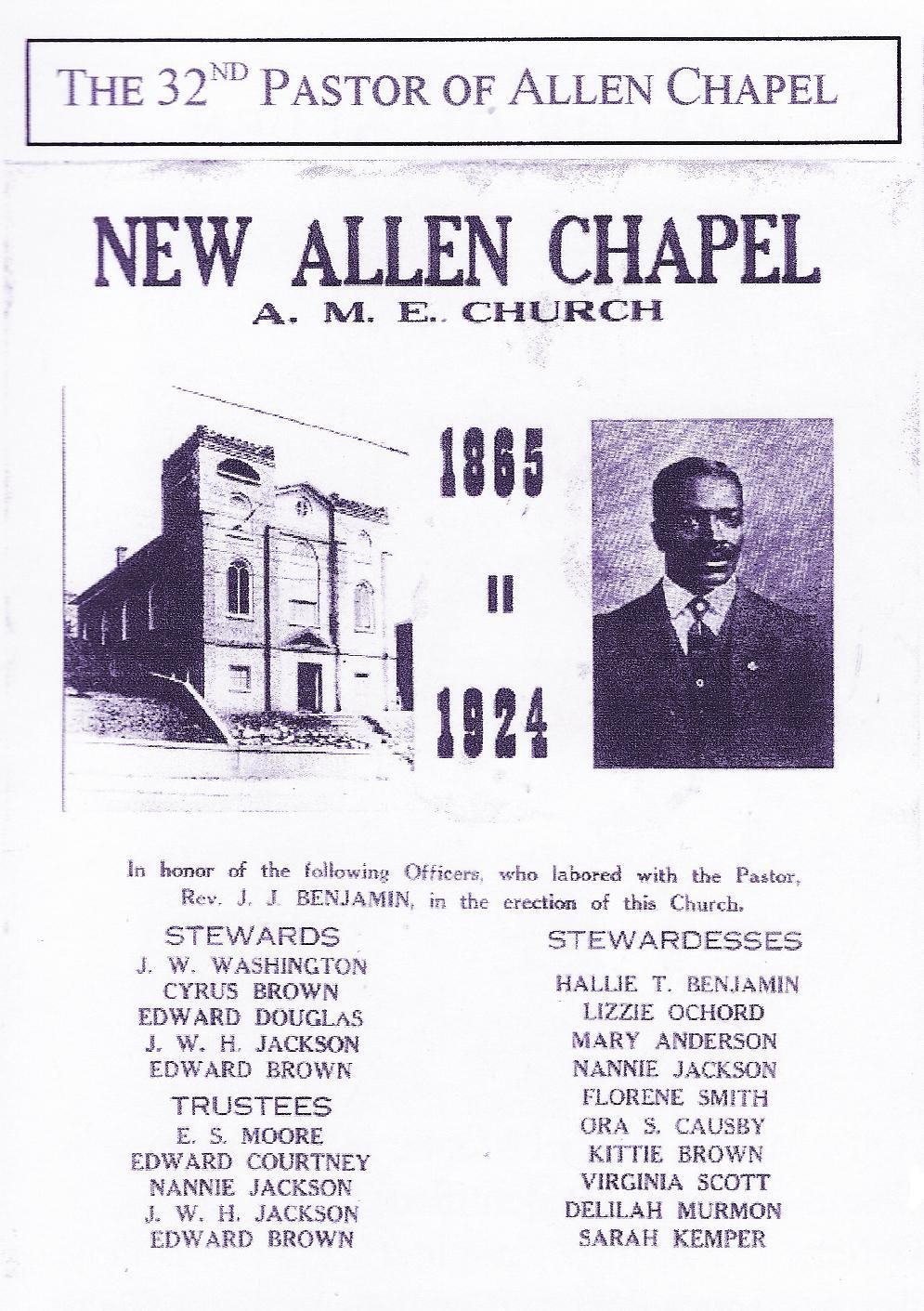 New Pastor at Allen Chapel